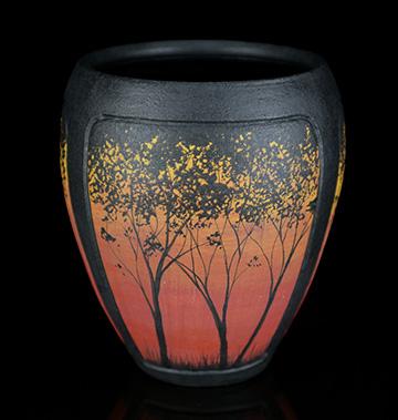 Red Tree Vase