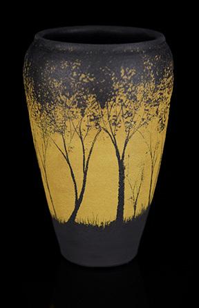 Yellow Tree Vase