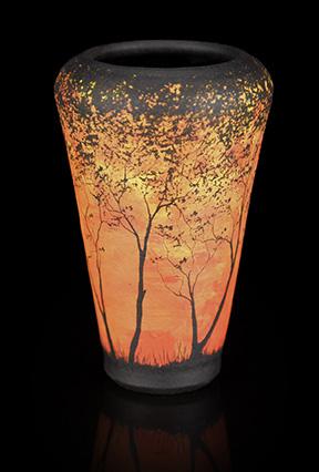 Orange Tree Vase