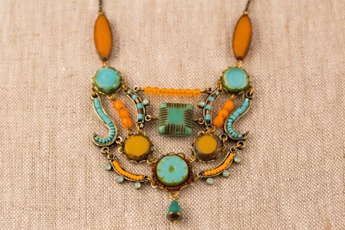 Aztec Necklace in Orange