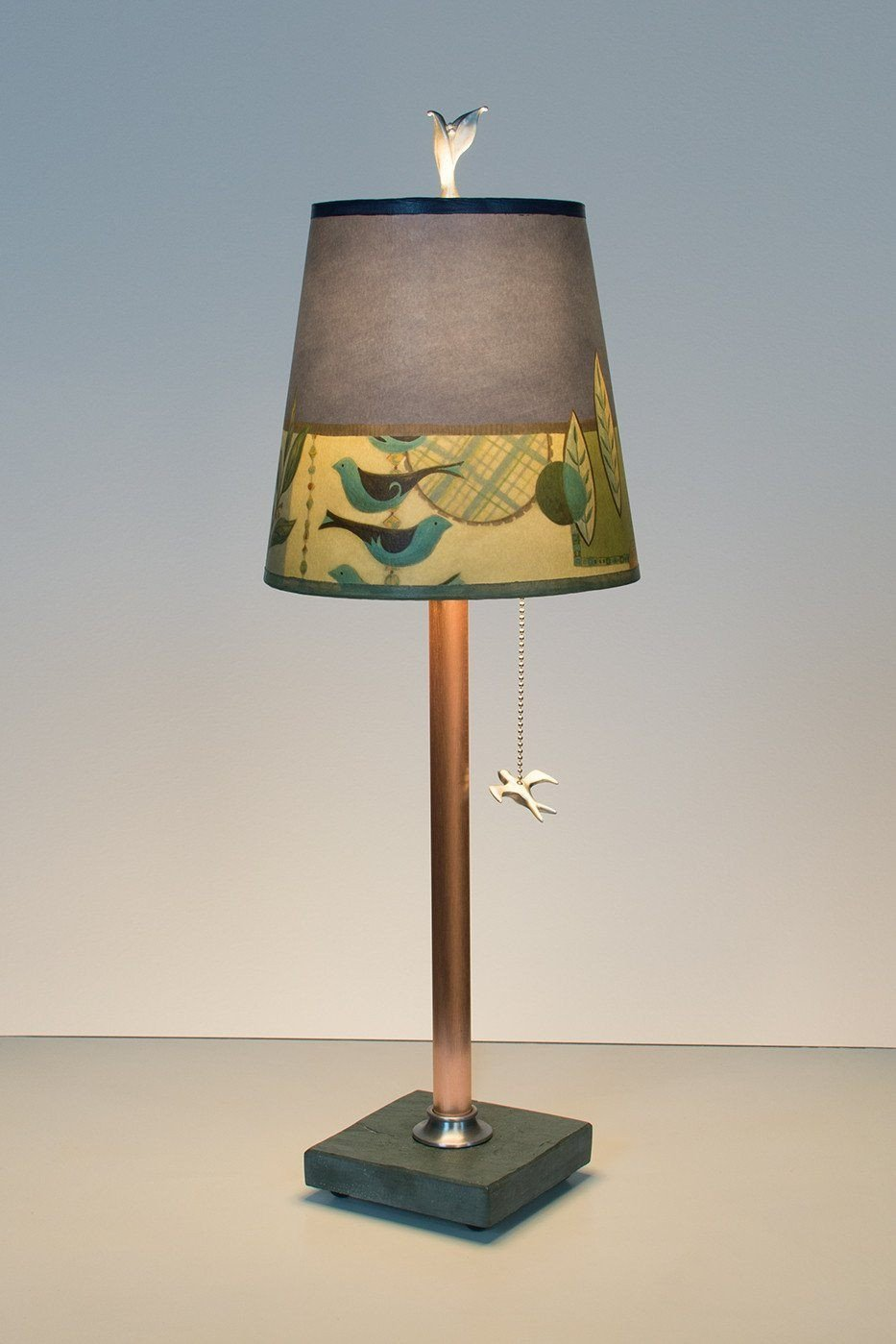 Capri Periwinkle Copper Table Lamp