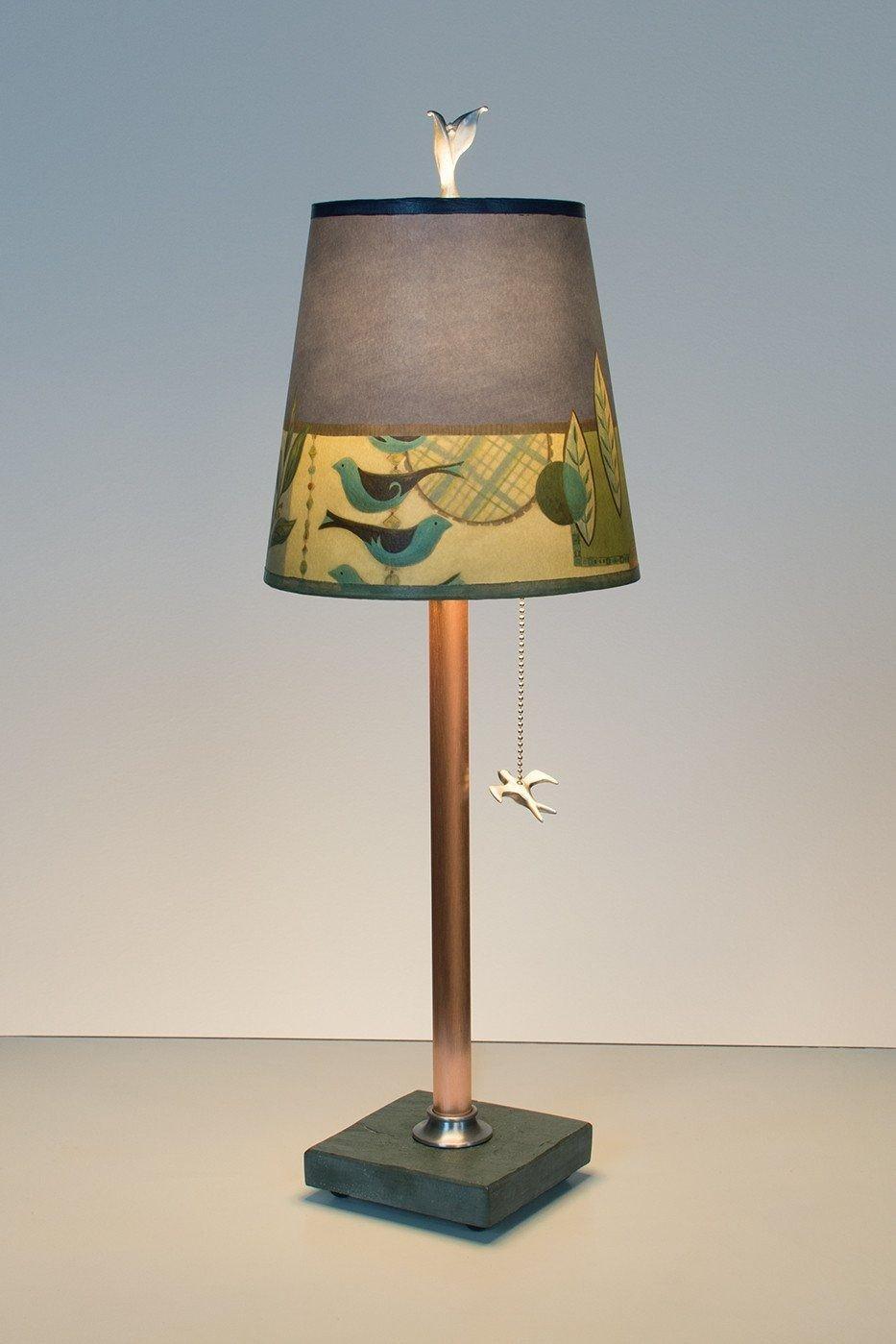 Capri Periwinkle Copper Table Lamp