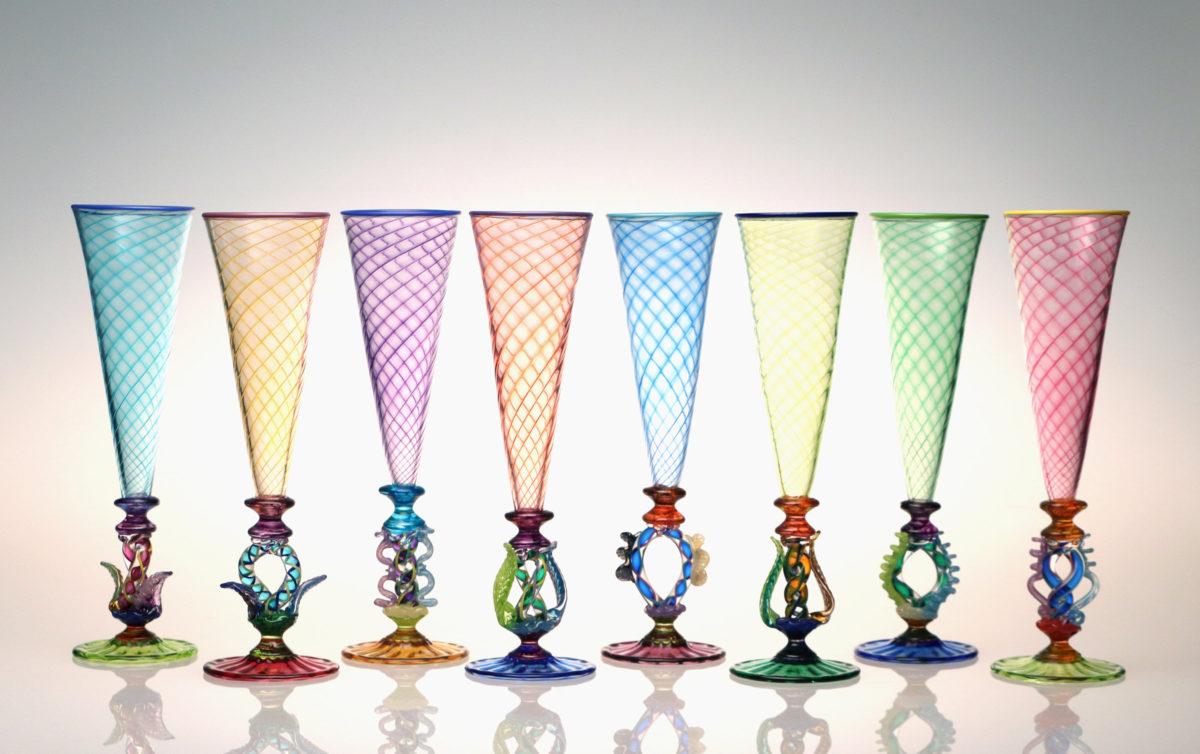 Tutti Frutti Champagne Flutes