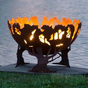 Forest Fire Firebowl Fire Pit