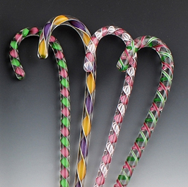 Glass Candy Canes