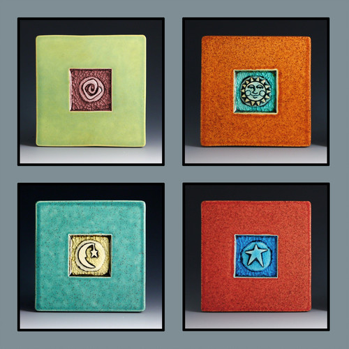 Melted Glass Coasters