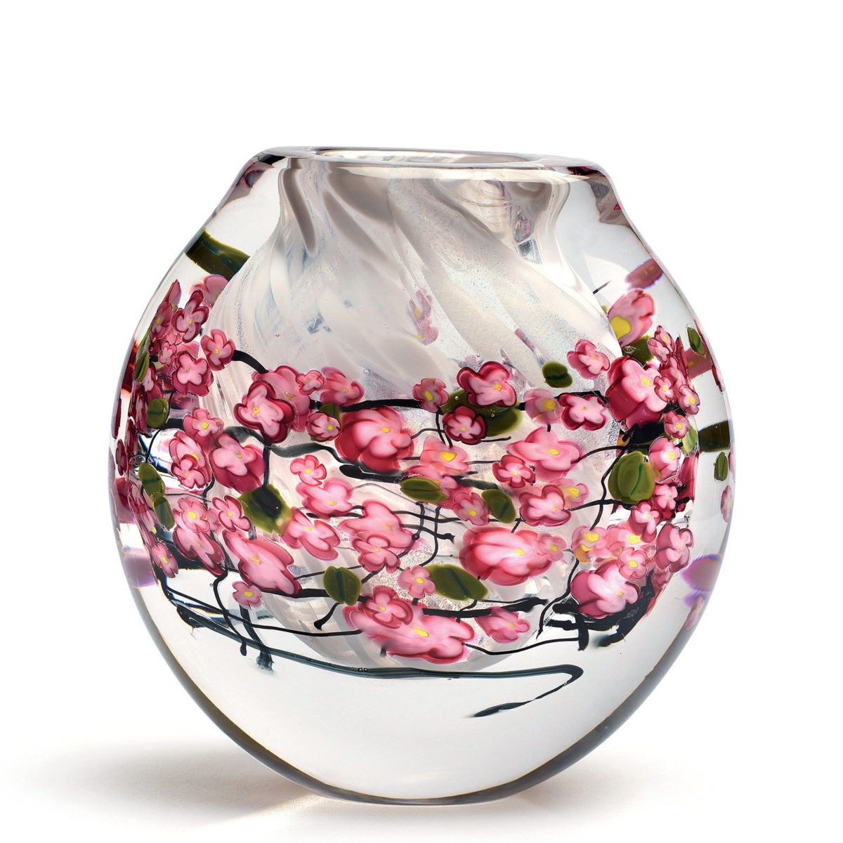 Cherry Blossoms Cased Vase