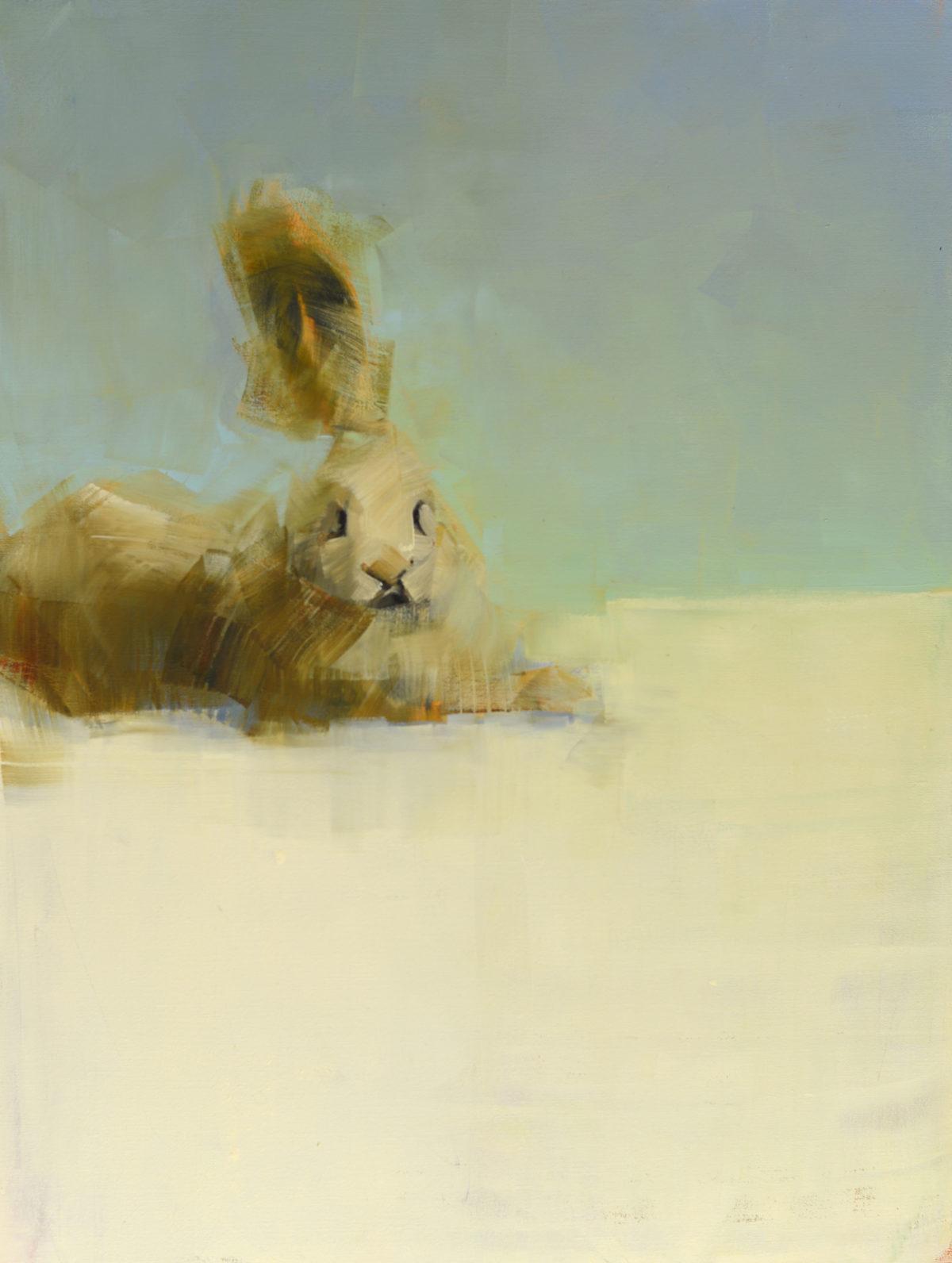 White Rabbit In Repose