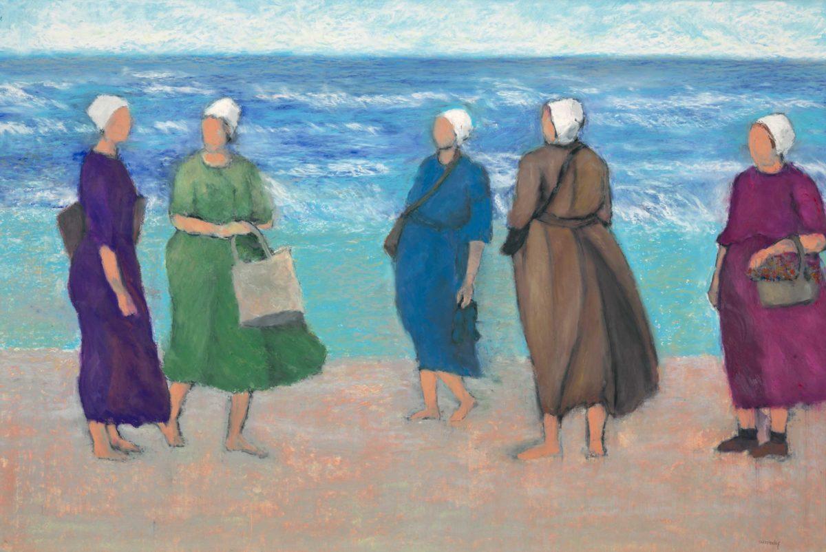 Amish Ladies on Holiday