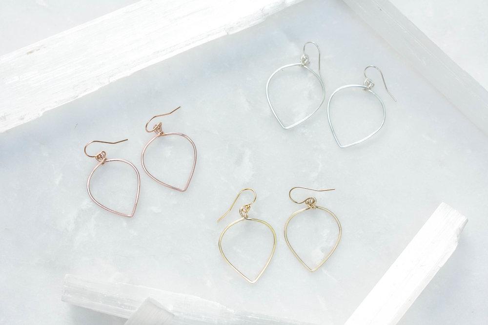 Flip Teardrop Hoop Earrings