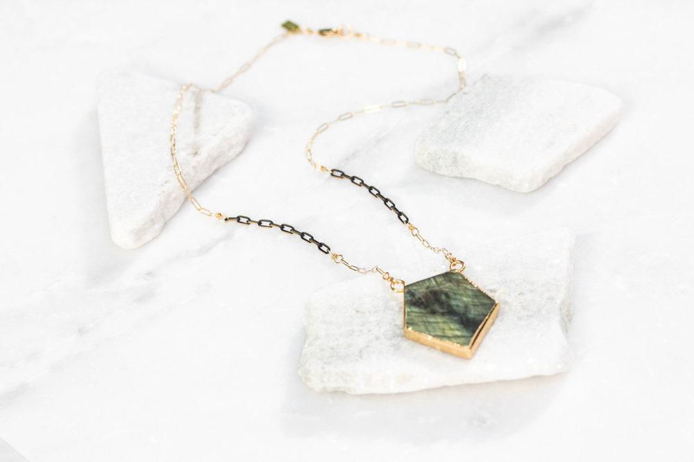 Labradorite Prism Necklace