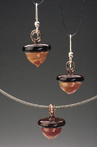 Acorn Earrings and Necklace