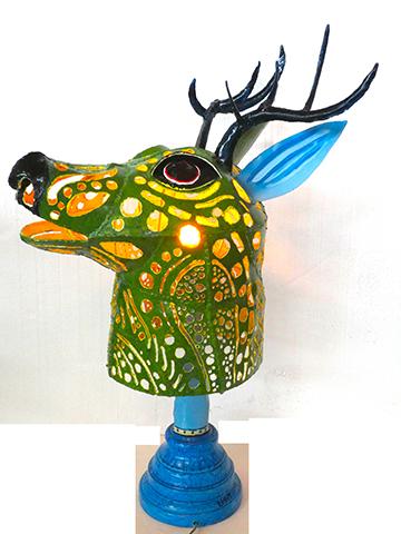 Light in Deer Head