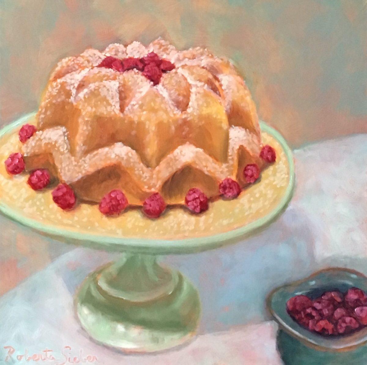 Rum Cake With Raspberries