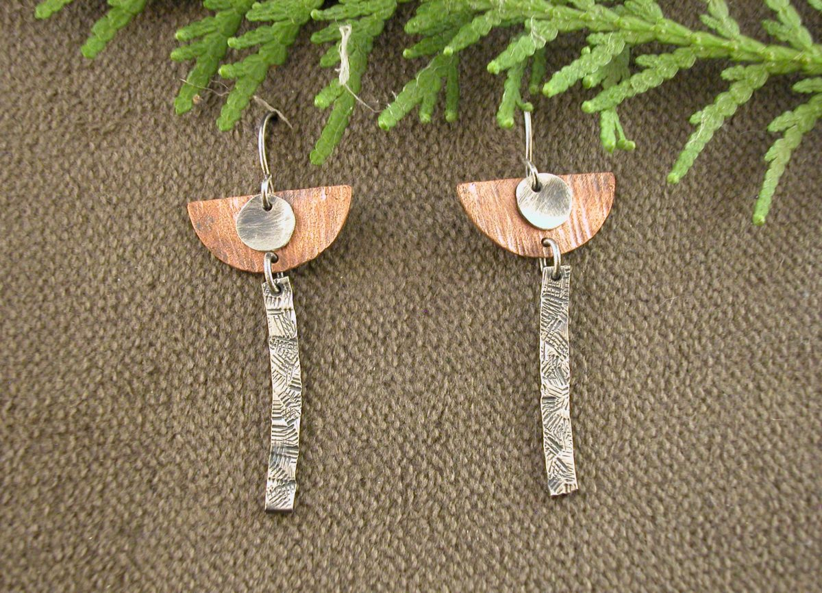 Half Circle and Stick Earrings