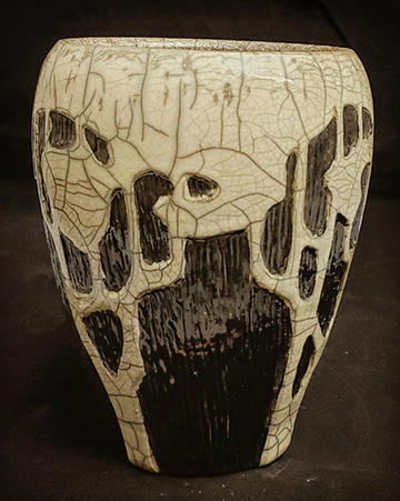 Black and Cream Vase