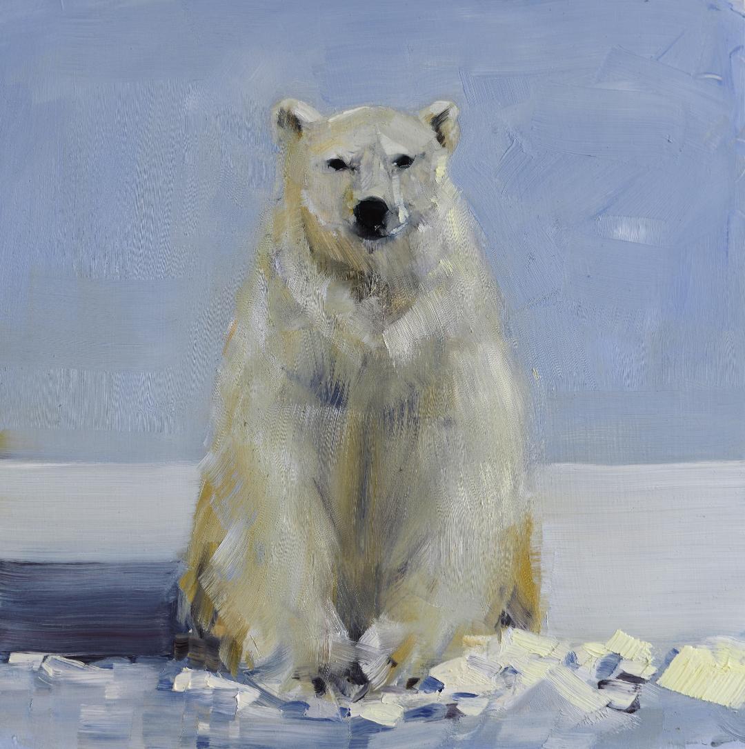 Polar Bear with Shadow