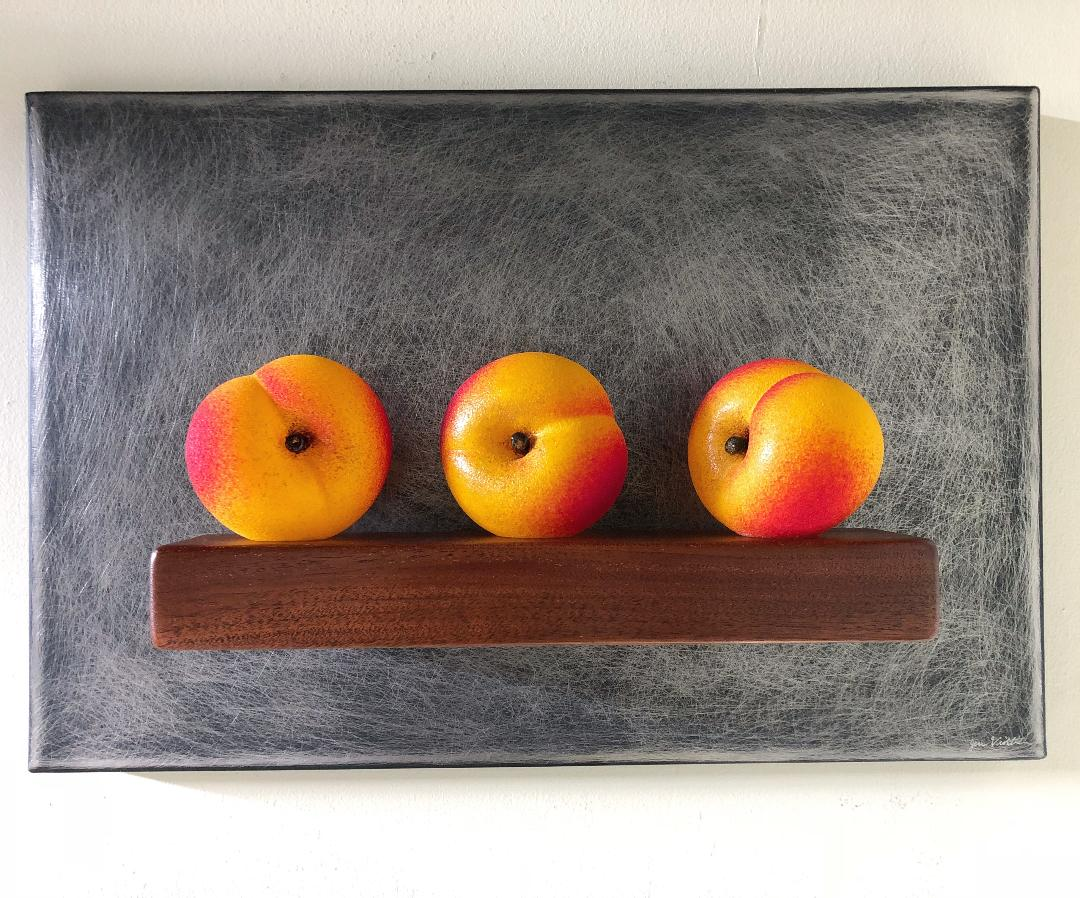 Three Peaches Still-Life