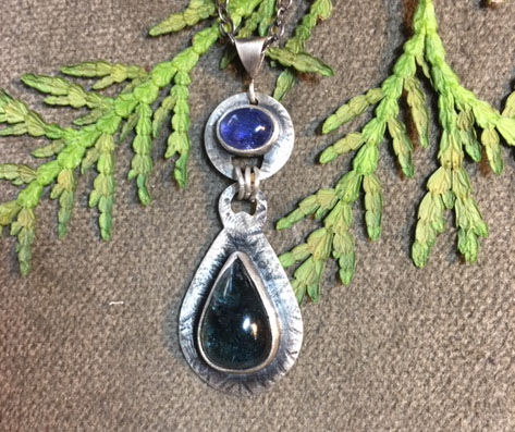 Iolite and Tourmaline Necklace
