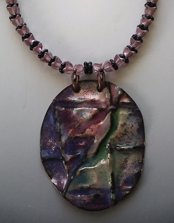 Folded Copper Pendant Necklace